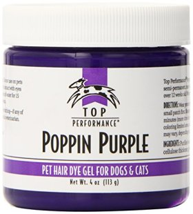 Top Performance TP6128 80 Hair Dye Gel for Dogs, 4-Ounce, Poppin Purple