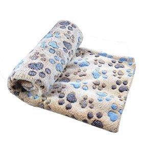 Pet Dog Cat Puppy Kitten Soft Blanket Doggy Warm Bed Mat Paw Print Cushion