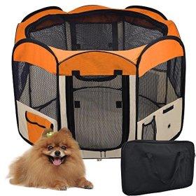 56″ Large 2-Door Waterproof 600D Oxford Cloth Pet Playpen Dog Puppy Tent Exercise Kennel