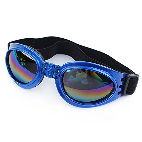 QPet Pet Sunglasses Dog Sunglasses Goggle UV Sunglasses Eye Wear Protection Waterproof (Blue)