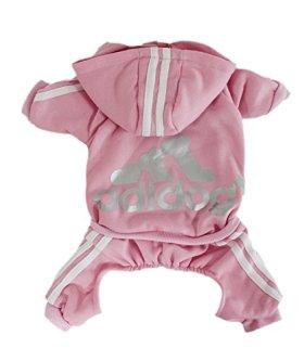 Scheppend Adidog Pet Clothes for Dog Cat Puppy Hoodies Coat Winter Sweatshirt Warm Sweater,Pink Small