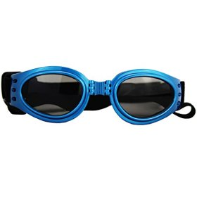 1pc Blue New Fashionable Pet Dog Sunglasses Eye Wear Protection Waterproof Goggles (Blue)