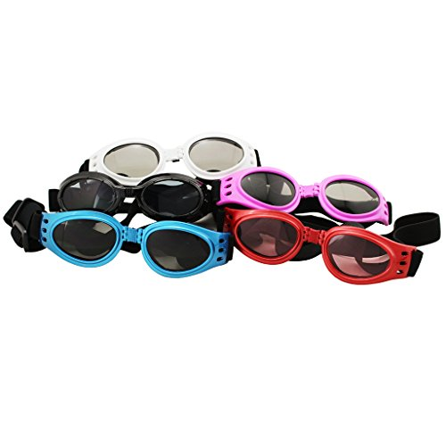 5pcs New Fashionable Multi-Color Pet Dog Sunglasses Eye Wear Protection Waterproof Goggles (5 Colors)