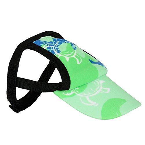 PlayaPup Sun Protective Dog Visor, XX-Small, Emerald
