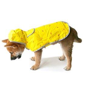 Moonshuttle Breathable Featherlight Dog Rain Coat Poncho made with DuPont Technology – Yellow (Large)