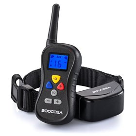 Upgraded BOOCOSA Best Wireless Dog Training Collar, Training Collars for Pet Obedience Train with Remote Visible Button – Easy to Use