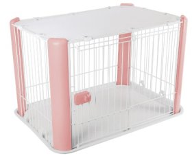 IRIS Dog Play Pen with Mesh Roof, Pink