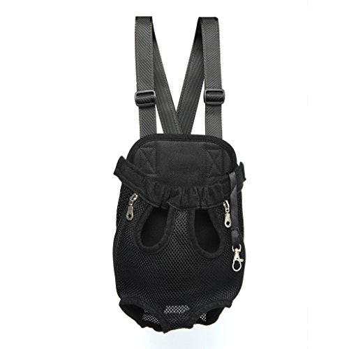 Funkeen Pet Dog Backpack Carrier Puppy Pouch Cat Front Bag or Back Pack with Legs out for Small Medium Dogs Cats