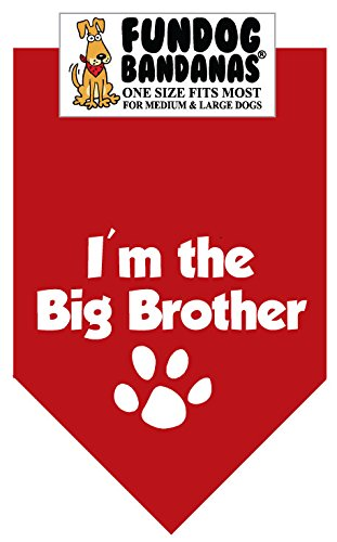 BANDANA – I'm the Big Brother for Medium to Large Dogs – red