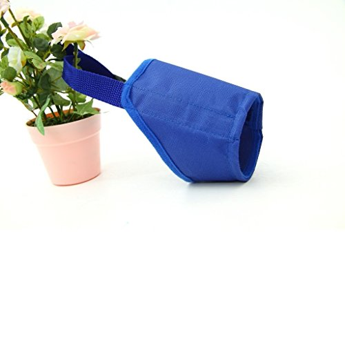 Winstory Fabric Puppy Dog Muzzle Adjustable Grooming No Bite Bark Nipping Chewing Blue