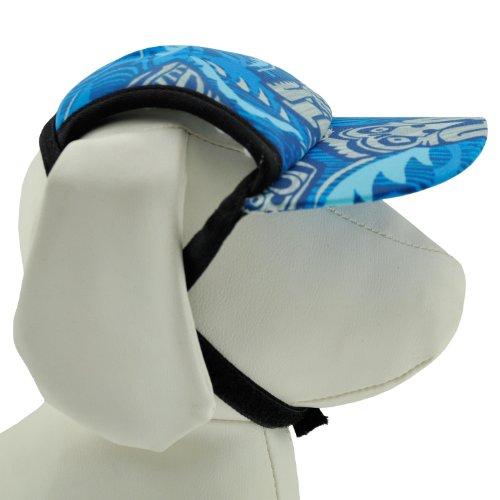 PlayaPup Sun Protective Dog Visors, Tiki Cobalt, X-Small