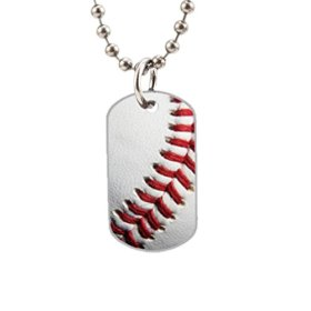 New Baseball Fashion Image Custom Unique Personalized Dog Tag Necklaces, dogtag size About 1.3X 2.2 inches Ideal Gift