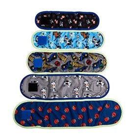 VIILER – 4 Pcs Dog Diaper Belly Band Washable Reusable for Small Male Boy Dog Breeds Puppy (S: Adjustable 8.6″-9.6″ Random Colors)