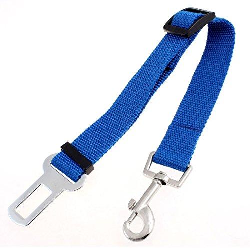 EOM Puppy Pet Dog Belt Car Automotive Seat Safety Belt Nylon Adjustable Lobster Clasp Halter / Dog Cat Harness Lead Leash Pulling Rope Back Strap Belt Circle String (safe belt- blue)