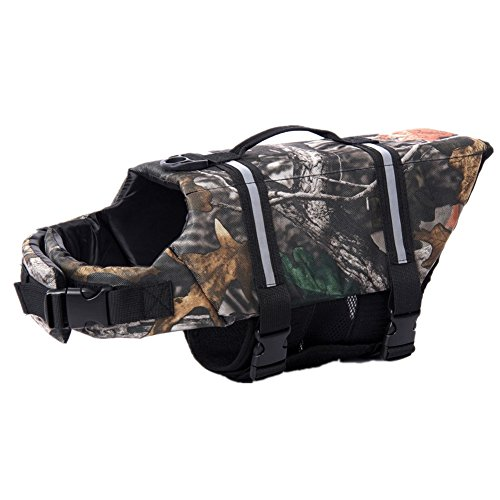 Camouflage Pet Dog Swimming Life Jacket Preserver Life Vest Coat With Adjustable Belt (S)