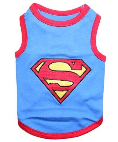 Parisian Pet Superman Dog T-Shirt, Medium