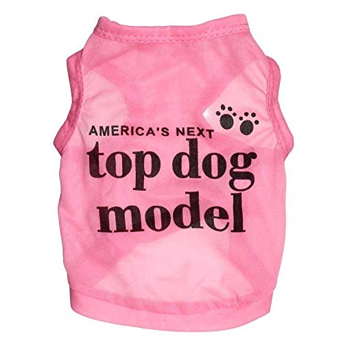 Ollypet America's Next Top Dog Model Cotton Dog Shirt Pet Vest Pink S