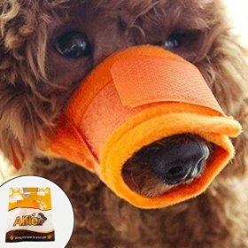 Alfie Pet by Petoga Couture – Matti Adjustable Quick Fit Nylon Mesh Muzzle – Color: Orange, Size: Small