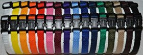 SALE Soft Nylon Puppy ID SNAP Buckle Collars – Puppy Identification Litter Collars (Set of 20)