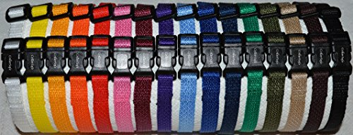 SALE Soft Nylon Puppy ID SNAP Buckle Collars – Puppy Identification Litter Collars (Set of 20)