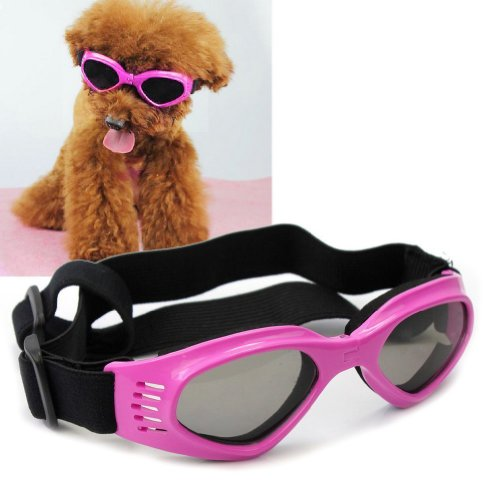 Pet Leso Doggles Goggles Stylish Doggie Puppy Sunglasses Windproof – Pink
