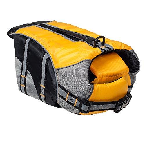 He&Ha Pet Quality Dog Life Jacket Adjustable Dog Life Vest Preserver (Yellow, Large)