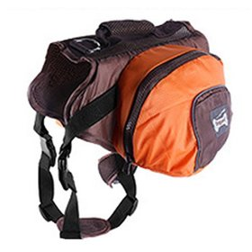 Lifeunion Collapsible Dog Pack Hound Travel Camping Hiking Backpack Saddle Bag Harness for Medium and Large Dog (Orange, XL)
