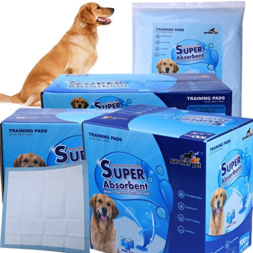 Gardner Pet THE BEST Super-Absorbent 24 by 24 Inches Dog Training Pads – 2 Count of Pads