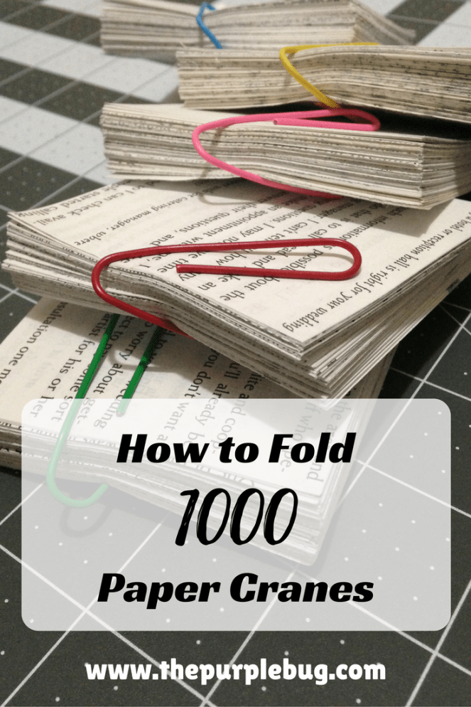 How to fold 1000 paper cranes