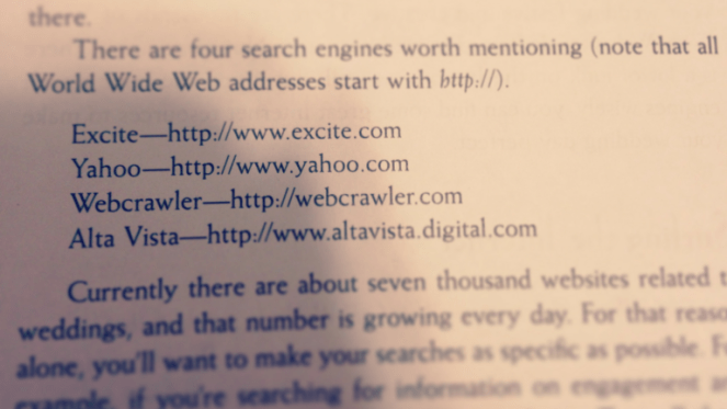 The internet used to be so small. Only 7000 wedding websites.