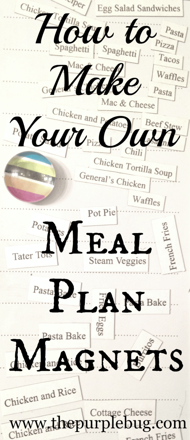 Magnets give you the flexibility you need when meal planning around an inconsistent schedule.