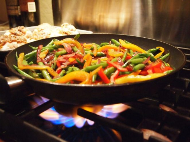 Make stir fry at the end of the week using all of your leftover vegetables