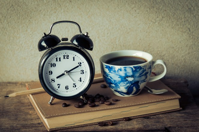 You feel terrible in the morning because you aren't getting enough sleep. Try to set a consistent bedtime and wake up time.