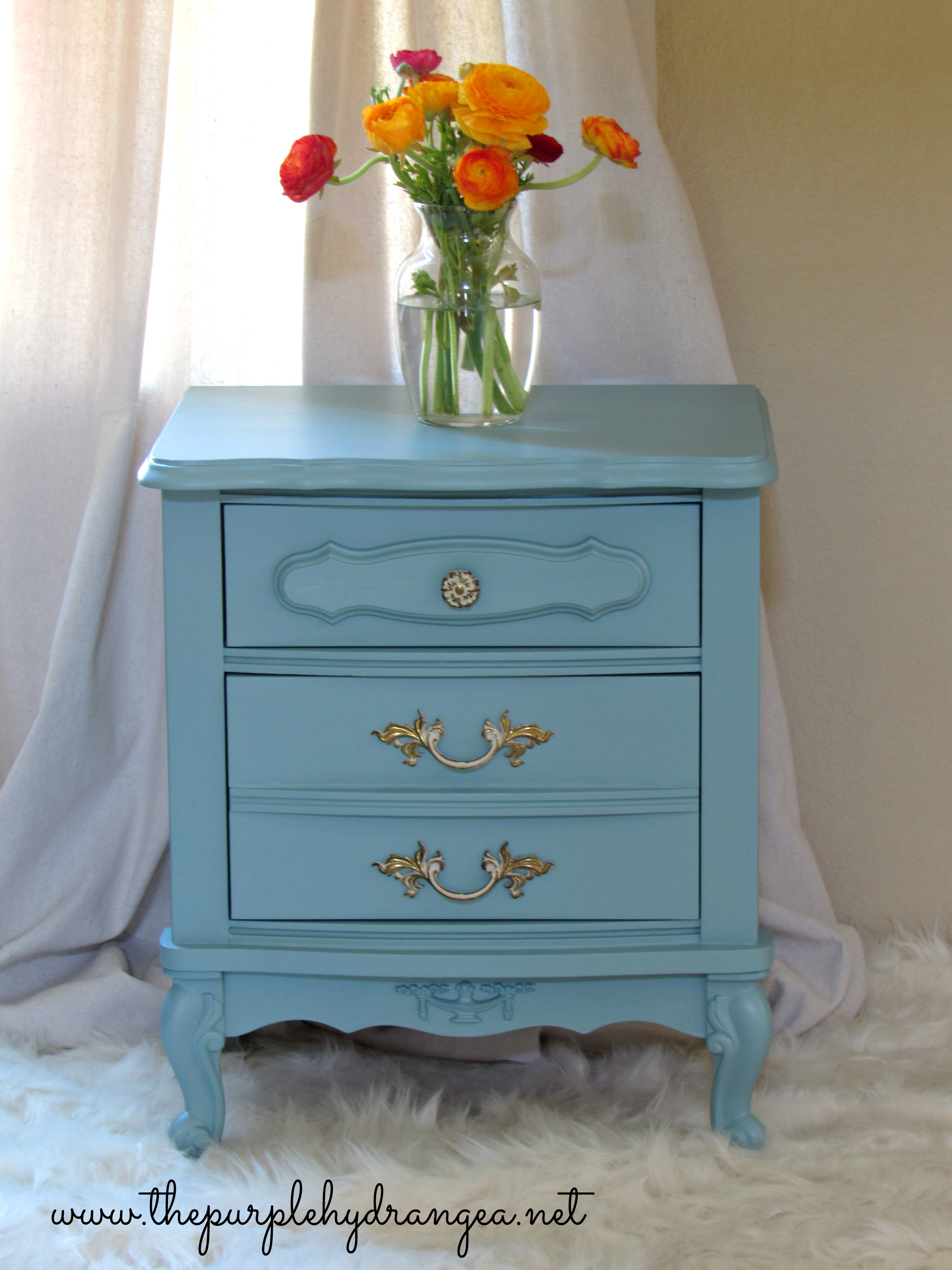 French Provincial Nightstand Preview The Purple Hydrangea