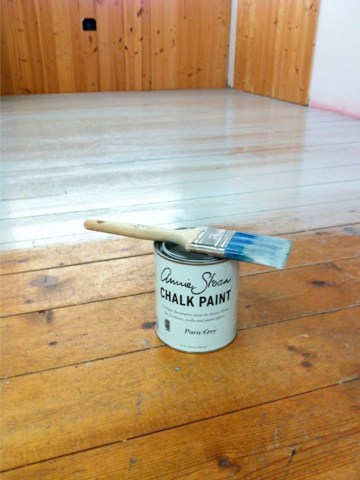 Chalk Paint     on a Floor With Annie s Lacquer for Protection   The     If interested in checking out Annie s flat LARGE paint brush that gives a  smoother finish  click HERE