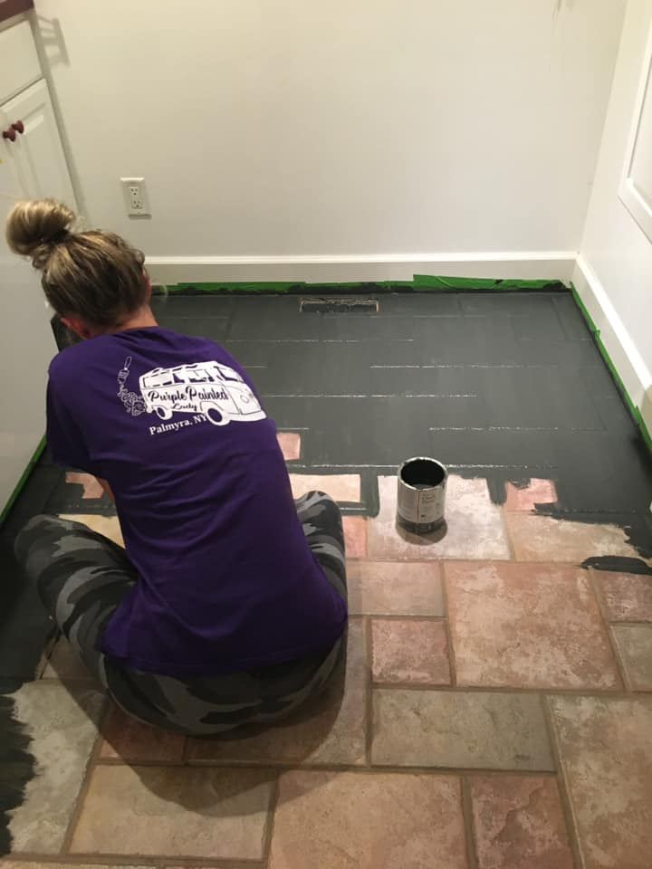 painting your floor with chalk paint