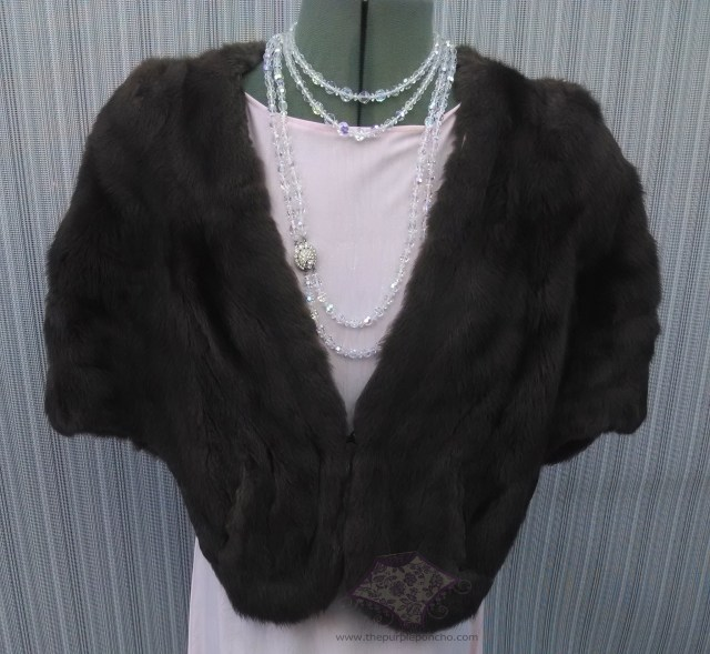 Grandma Millie's mink with Gloria's jewelry.