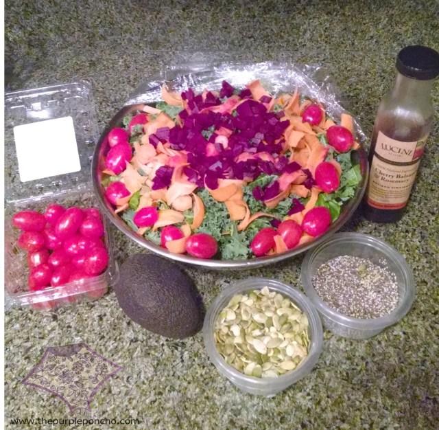 Kale Salad The Purple Poncho