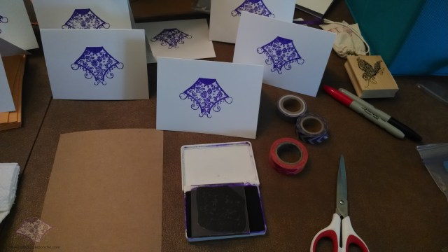 Rubber stamping my logo