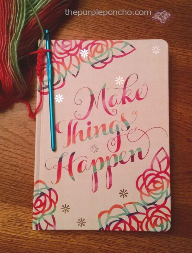 Pretty crochet pattern notebook