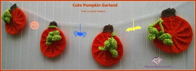 Cute Pumpkin Applique Garland by The Purple Poncho CC