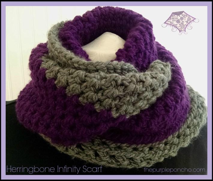Herringbone infinity scarf a free crochet pattern the purple poncho herringbone infinity scarf by the purple poncho a free crochet pattern dt1010fo