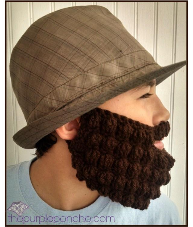 Crochet Bobble Beard Review Free Pattern The Purple Poncho