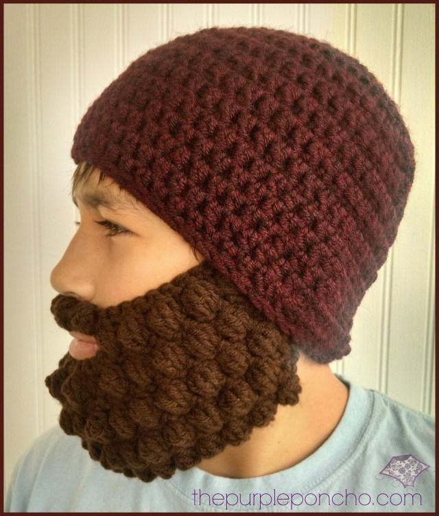 Crochet Bobble Beard Review – Free Pattern – The Purple Poncho