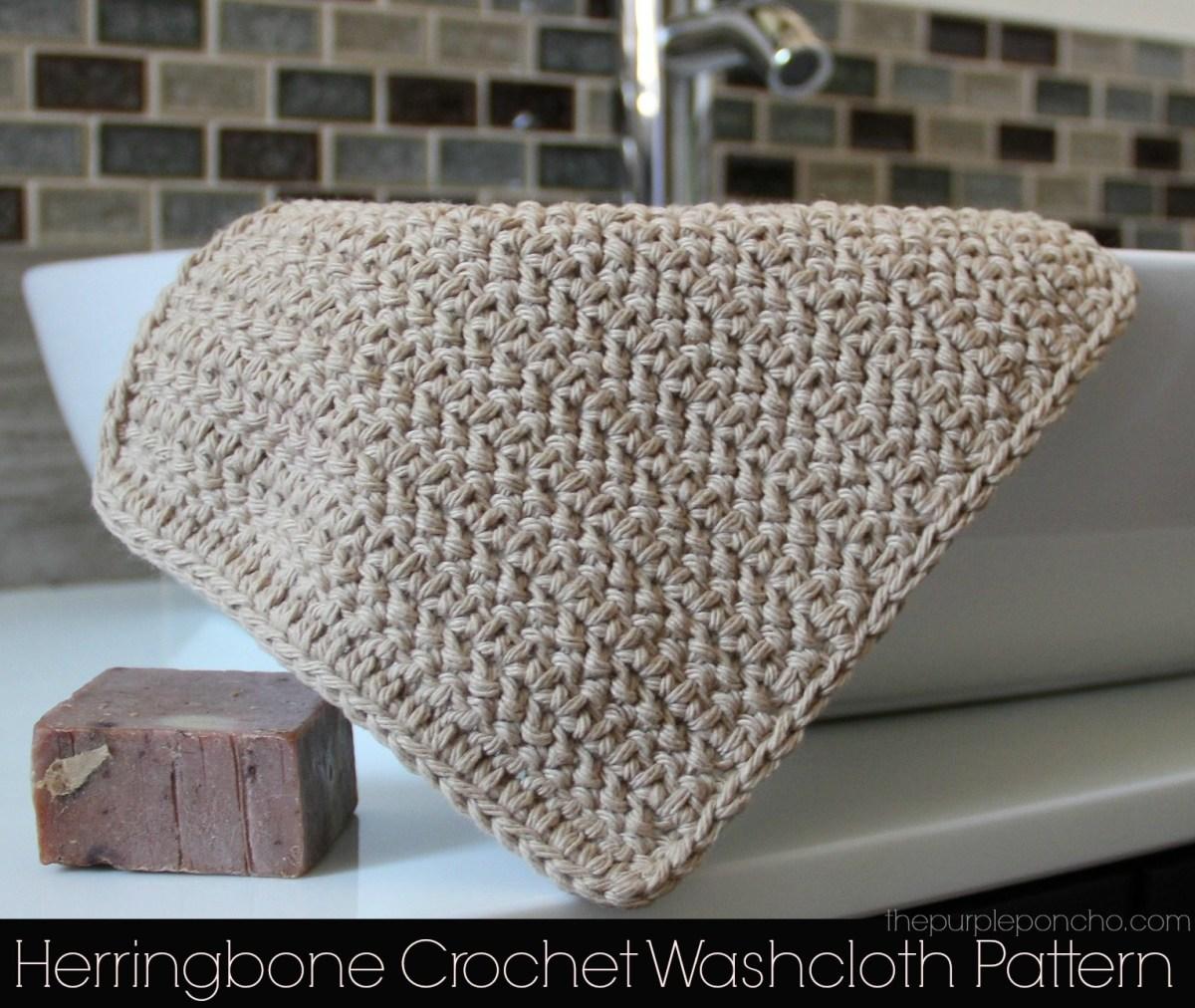 Herringbone crochet washcloth pattern the purple poncho dt1010fo