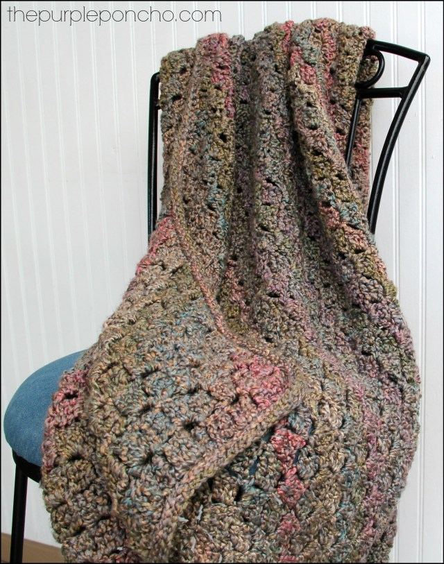 Corner-to-Corner Crochet Throw by The Purple Poncho