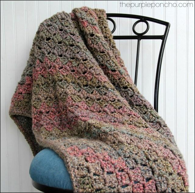 Crochet Corner To Corner Throw With Rope Edging Free Patterns
