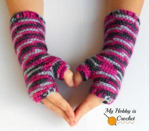 crochet fingerless mittens free pattern