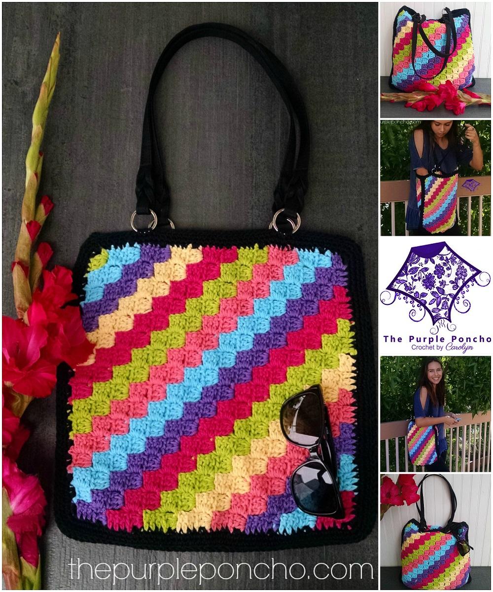 C2C Crochet Tote Bag Design - Carolyn Calderon