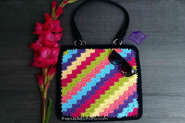 C2c Crochet Tote Bag Pattern The Purple Poncho